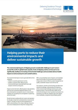 Helping ports to reduce their environmental impacts and deliver sustainable growth