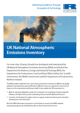 UK National Atmospheric Emissions Inventory
