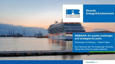 Air quality challenges and strategies for ports