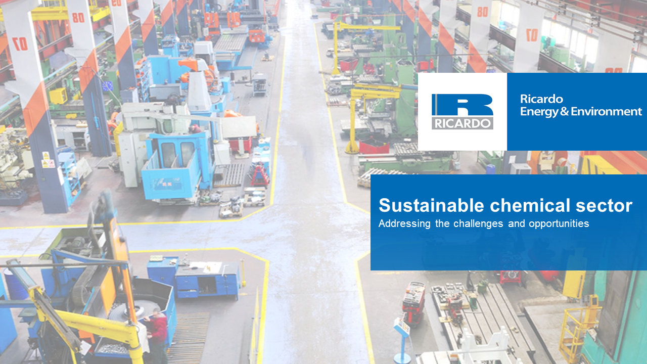 Webinar video: Addressing the challenges and opportunities of a sustainable chemical sector
