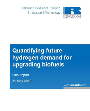 Quantifying future hydrogen demand for upgrading biofuels