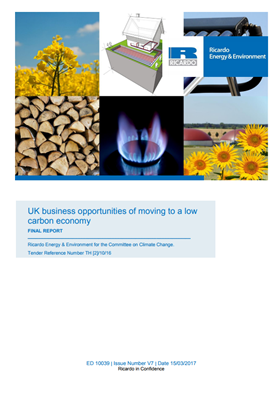 UK business opportunities of moving to a low-carbon economy